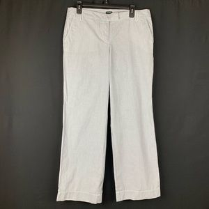 J.Crew Cotton City Fit Grey Striped Pants. Size 10
